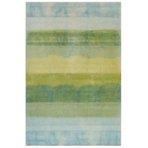 Piazza Sea Breeze Rectangular 42 In. x 66 In. Textured Stripe Indoor Rug