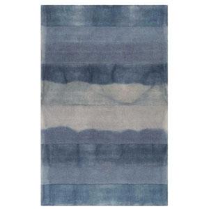 Piazza Sea Breeze Rectangular 42 In. x 66 In. Textured Stripe Indoor Rug