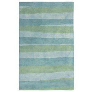 Piazza Sea Breeze Rectangular 7 Ft. 6 In. x 9 Ft. 6 In. Stripes Indoor Rug