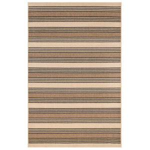 Riviera Sisal Rectangular 4 Ft. 10 In. x 7 Ft. 6 In. Stripe Outdoor Rug