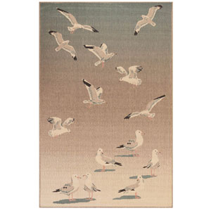 Riviera Sisal Rectangular 7 Ft. 10 In. x 9 Ft. 10 In. Seagulls Outdoor Rug
