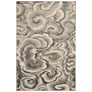 Liora Manne Soho Charcoal 7 Ft. 10 In. x 9 Ft. 10 In. Clouds Indoor Rug
