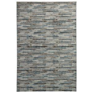 Liora Manne Soho Blue 8 Ft. 10 In. x 11 Ft. 9 In. Stripe Indoor Rug