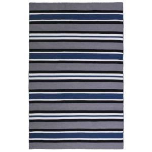 Liora Manne Sorrento Navy 42 x 66 Inches Cabana Stripe Indoor/Outdoor Rug