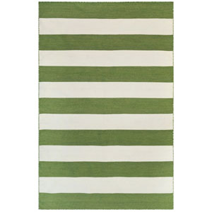 Sorrento Warm Rectangular 8 Ft. 3 In. x 11 Ft. 6 In. Rugby Stripe Outdoor Rug