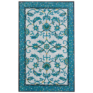 Visions Iv Blue Rectangular 8 Ft. x 10 Ft. Palazzo Outdoor Rug