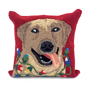 Liora Manne Frontporch Red Square 18 In. Indoor/Outdoor Pillow