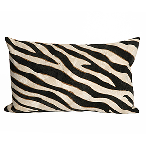 Liora Manne Visions I Black Rectangular 12 x 20 In. Indoor/Outdoor Pillow
