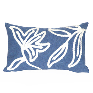 Liora Manne Visions I Blue Rectangular 12 x 20 In. Indoor/Outdoor Pillow