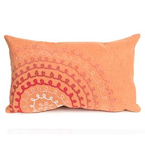 Liora Manne Visions II Orange Rectangular 12 x 20 In. Indoor/Outdoor Pillow