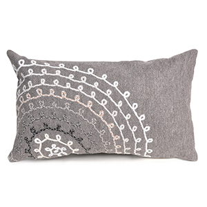 Liora Manne Visions II Grey Rectangular 12 x 20 In. Indoor/Outdoor Pillow