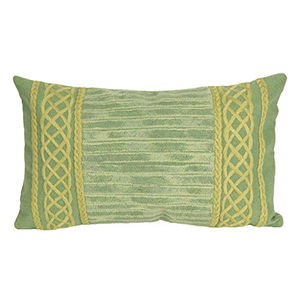 Liora Manne Visions II Sage Rectangular 12 x 20 In. Indoor/Outdoor Pillow