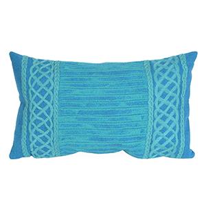 Liora Manne Visions II Green Rectangular 12 x 20 In. Indoor/Outdoor Pillow