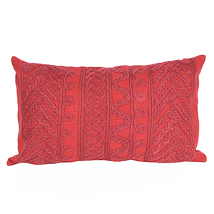 Liora Manne Visions II Red Rectangular 12 x 20 In. Indoor/Outdoor Pillow
