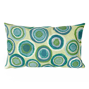 Liora Manne Visions II Green Rectangular 12 x 20 In. Indoor/Outdoor Pillow