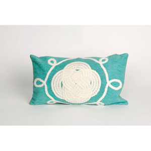 Ornamental Knot Aqua Pillow