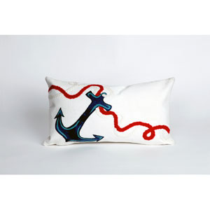 Anchor White Pillow