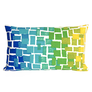 Liora Manne Visions II Blue Rectangular 12 x 20 In. Indoor/Outdoor Pillow