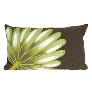 Liora Manne Visions II Brown Rectangular 12 x 20 In. Indoor/Outdoor Pillow