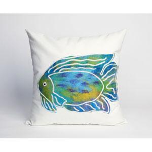 Batik Fish Aqua Pillow