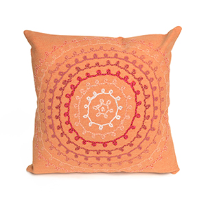 Liora Manne Visions II Orange Square 20 In. Indoor/Outdoor Pillow