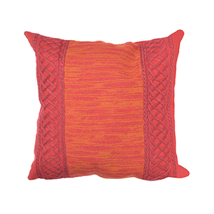 Liora Manne Visions II Red Square 20 In. Indoor/Outdoor Pillow