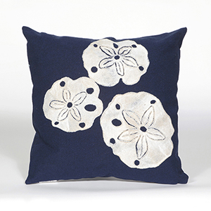 Liora Manne Visions II Navy Square 20 In. Indoor/Outdoor Pillow