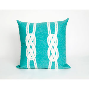 Double Knot Aqua Pillow