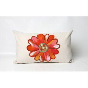 Daisy Orange Pillow