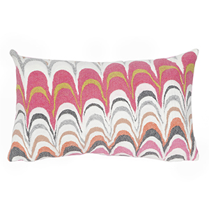 Liora Manne Visions III Pink Rectangular 12 x 20 In. Indoor/Outdoor Pillow