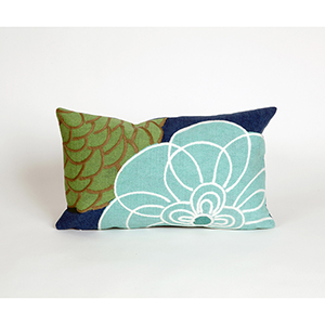 Liora Manne Visions III Blue Rectangular 12 x 20 In. Indoor/Outdoor Pillow