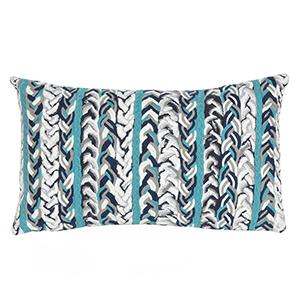 Liora Manne Visions III Blue Rectangular 12 x 20 In. Indoor/Outdoor Pillow