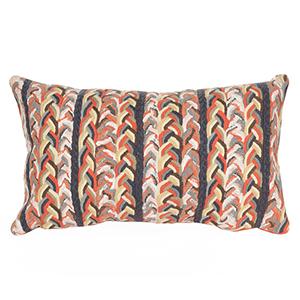 Liora Manne Visions III Orange Rectangular 12 x 20 In. Indoor/Outdoor Pillow