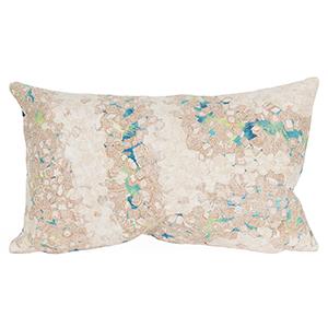 Liora Manne Visions III Blue Rectangular 12 x 18 In. Indoor/Outdoor Pillow