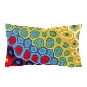Liora Manne Visions III Red Rectangular 12 x 18 In. Indoor/Outdoor Pillow