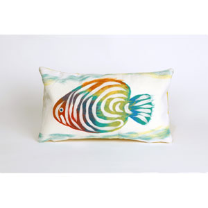 Rainbow Fish Pearl Pillow