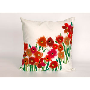 Poppies Red Pillow
