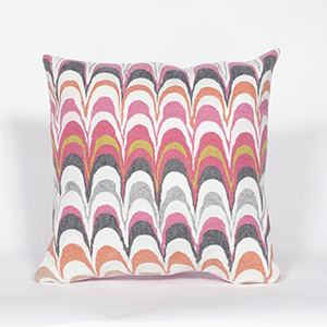 Liora Manne Visions III Pink Square 20 In. Indoor/Outdoor Pillow