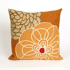 Liora Manne Visions III Orange Square 20 In. Indoor/Outdoor Pillow