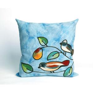 Song Birds Blue Pillow