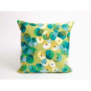 Pansy Lime Pillow
