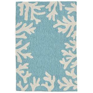 Liora Manne Capri Blue Rectangular: 1 Ft. 7 In. x 2 Ft. 6 In. Indoor/Outdoor Rug