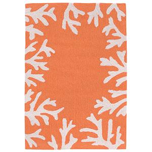 Liora Manne Capri Orange Rectangular: 1 Ft. 7 In. x 2 Ft. 6 In. Indoor/Outdoor Rug