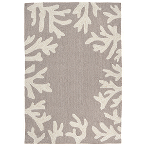 Liora Manne Capri Silver Rectangular: 1 Ft. 7 In. x 2 Ft. 6 In. Indoor/Outdoor Rug