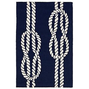 Liora Manne Capri Navy Rectangular: 1 Ft. 7 In. x 2 Ft. 6 In. Indoor/Outdoor Rug