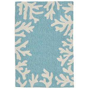 Liora Manne Capri Blue Rectangular: 2 Ft. x 3 Ft. Indoor/Outdoor Rug