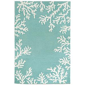 Liora Manne Capri Blue Rectangular: 5 Ft. x 7 Ft. 6 In. Indoor/Outdoor Rug