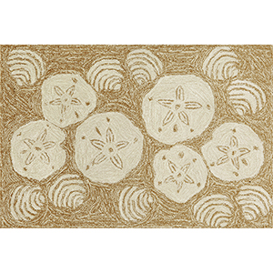 Liora Manne Frontporch Natural Rectangular: 1 Ft. 7 In. x 2 Ft. 6 In. Indoor/Outdoor Rug