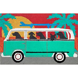 Frontporch Beach Trip Turquoise Rectangular: 2 Ft. x 3 Ft. Indoor/Outdoor Rug