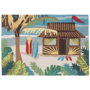 Liora Manne Frontporch Multicolor Rectangular: 2 Ft. x 3 Ft. Indoor/Outdoor Rug